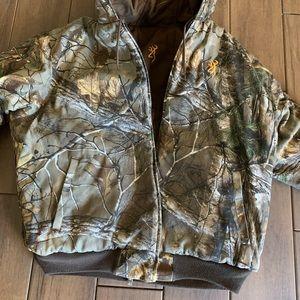 Browning camp jacket reversible